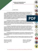 Confederación Estudiantil Nacional - Comunicado de Prensa 04  (2010-2011)