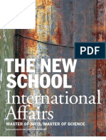 The New School for General Studies / International Affairs Viewbook 2010