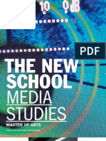 The New School for General Studies / Media Studies Viewbook 2010