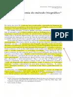 Sobre a autonomia do método biográfico.ferrarotti