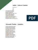 Alexandr Puskin - poezii