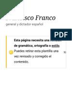 Francisco Franco citas