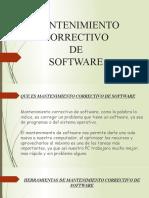 Mantenimiento Correctivo de software