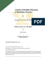 Essentials of Buddha Dhamma