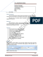 Unit 4 Word Processing Package