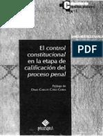 James Reáteguí Sáncf (PE-2008) - El control constitucional en la etapa de calificación del proceso penal