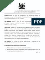 New Uganda Counties