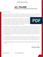 Lettre de Motivation Stage Licence