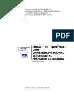Lineas de Investigación UNEFM