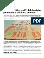 Los Creditos en La Provincia de Jujuy