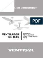MANUAL DO CONSUMIDOR VENTILADOR DE TETO