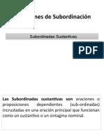 Subordinadas sustantivas 2019