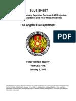 LAFD Blue Sheet 2011-01-09 Incident 1140