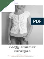 Leafy summer cardigan  - russian
