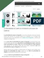 La PROFUNDIDAD DE CAMPO en fotografía explicada con ejemplos
