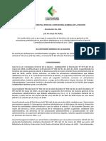 RESOLUCION No. 096 de 2020 CGN PRORROGA SUSPENSIÓN DE TÉRMINOS