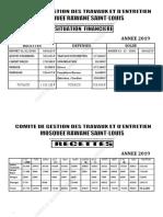 COMITE DE GESTION  ANNEE 20191