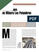 INSTALACIONES EN MINERA LOS PELAMBRES