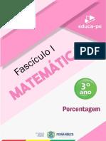 Matemática - Fascículo 1 - 3º Ano [Porcentagem].pdf