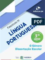 Fascículo_4_ 3º_Ano_Língua_Portuguesa_[O gênero dissertação escolar]