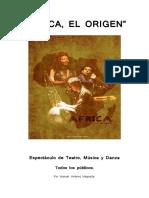 AFRICA EL ORIGEN Dossier espectáculo