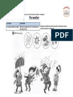 match and say  -relaciona y pronuncia en forma oral los tipos de clima  -activity book pag 9