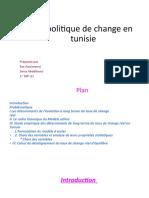La politique de change en tunisie
