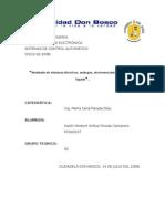 Modelado de sistemas eléctricos, análogos, electromecánicos y de nivel de líquido