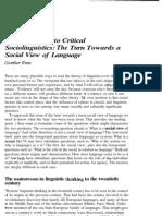 sociolinguistics article