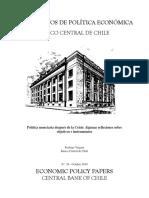 Política monetaria después de la Crisis- Algunas refl exiones sobre objetivos e instrumentos