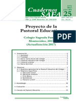 modelo de proyecto pastoral educativa