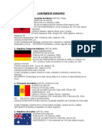 Continente Europeo paises, capitales y moneda