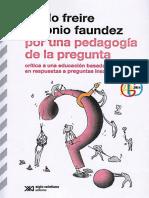 Freire y Faudez - por una pedagogia de la pregunta-