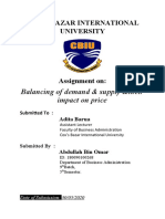 Assignment on Balancing of Demand & Supply & their impact on price.docx
