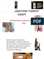 How Marketers Target Kids Ppt