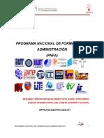 PROGRAMA NACIONAL DE FORMACIÓN EN ADMINISTRACIÓN (PNFA)