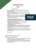 RESUMEN FILOSOFÍA T. 2 y 3