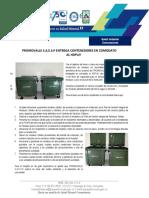 Boletín Ambiental entrega de contenedores en Comodato por PROMOVALLE