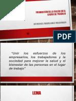 SESION 15 Promoción de la Salud en el LUGAR DE TRABAJO MICHELL
