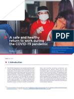 A Safe and Healthy Return to Work Duringthe COVID-19 Pandemic