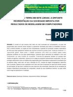 REORIENTAÇÃO DA SOCIEDADE IMPOSTA POR RESULTADOS DE MODELAGEM EM COMPUTADORES