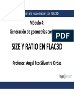 Módulo 4 Size y Ratio en FLAC3D
