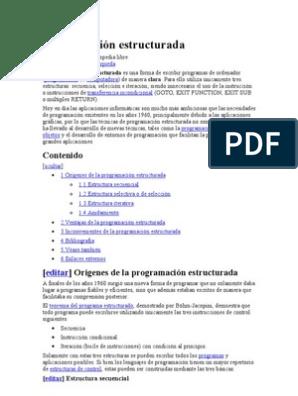 Programación Estructurada C Programa De Computadora