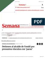 202. Semana, Yondó. Detienen al alcalde de Yondó por presuntos vínculos con 'paras' (16-5-2015)
