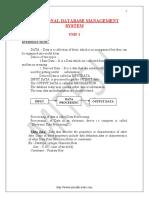 RDBMS Notes