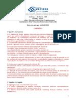 Gabarito da AD1 de EPO - 2012.1