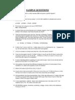 Tcs Sample Questions