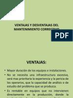VENTAJAS Y DESVENTAJAS DEL MANTENIMIENTO CORRECTIVO