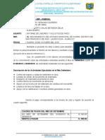INFORME N° 002-2019 INFORME DE PAGO SETIEMBRE BETTY
