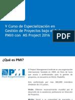 GESTION DE PROYECTOS BAJO EL ENFOQUE DEL PMI USANDO MSPROJECT 2013